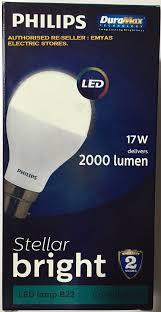 philips led 17w delivers 2000 lumen stellar bright led lamp b22