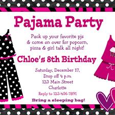 Sweet 17 Invitation Card Pajama Party Invitations Dancemomsinfo Com