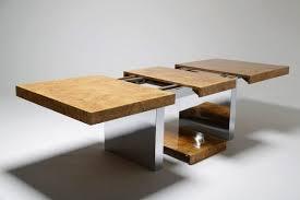 milo baughman dining table burlwood and chrome milo baughman dining table for thayer coggin