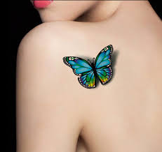 3d butterfly tattoos 2015 fashion one waterproof colors