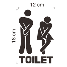 funny toilet entrance sign decal vinyl sticker toilet signs wall