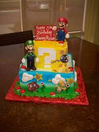 mario birthday cake mario cake ideas two tiered mario bros