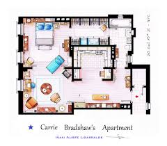 golden girls floorplan carrie bradshaw apartment from and the city by nikneuk on