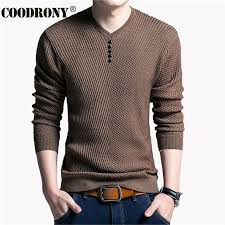 mens sweaters solid color pullover v neck sweater sleeve shirt mens