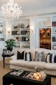 stylish decoration living room bookcase fancy plush design den