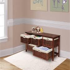 badger basket wooden storage cabinet with wicker baskets cherry