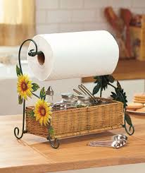 themed paper towel holder sunflowers paper towel holder kitchen caddy country kitchen decor
