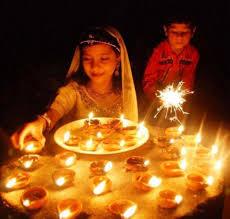 Home Decoration During Diwali Of Diyas During Diwali