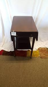 brandt furniture of character drop leaf table puget sound estate auctions lot 32 vintage drop leaf side table
