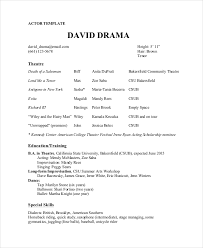 theater resume template theater resume template 6 free word pdf documents