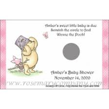 baby shower scratch baby shower scratch win winnie the pooh