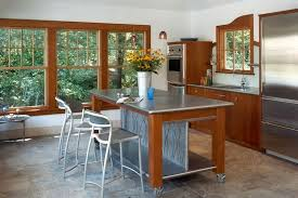metal island kitchen increased kitchen functionality stainless steel work tables inside