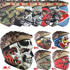 Halloween Motorcycle Costume Neoprene Skull Face Masks Halloween Costume Party Face Mask
