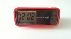 sveglia comodino orologio sveglia da tavolo casio vintage anni 70 collezionismo