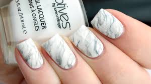 white marble nail art tutorial youtube