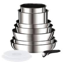 tefal batterie de cuisine ingenio preference batterie de cuisine 10 pieces l9409402 18 20 22