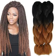 ombre kanekalon braiding hair 24inch 100g synthetic braiding hair two tone ombre xpressions