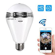wifi camera light bulb socket amazon com camera bulb vr panoramic bulb camera with 360 degree