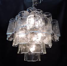 Murano Chandeliers For Sale Large Mid Century Italian Modern Camer Glass Chandelier Murano