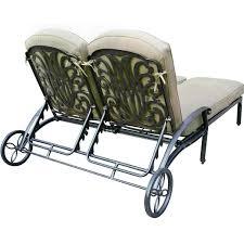 Double Chaise Lounge Chair Darlee Elisabeth Cast Aluminum Patio Double Chaise Lounge