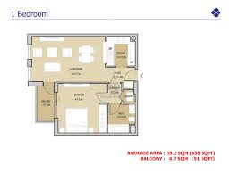 1 Bedroom Apartment Floor Plans by Mudon Views 1 Bedroom Apartment With Terrace Floor Plan