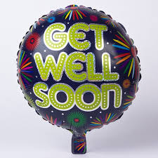 get well soon and balloons firework get well soon foil helium balloon only 2 49