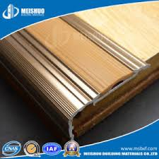 china metal no slip rubber step nosing for stair edging protection