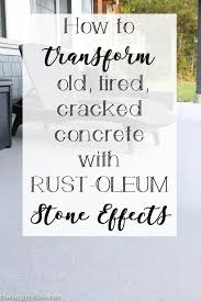 How To Fix Cracks In Concrete Patio How To Transform An Old Tired Cracked Concrete Patio The Happy