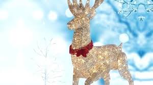 outdoor lawn ornaments innovation lighted deer yard hanging outdoor