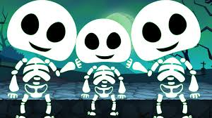 five little skeleton scary halloween rhyme baby song youtube
