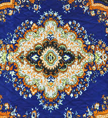 traditional design buy blue jute traditional design quilted carpet by azaani online