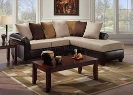 microfiber sectional with ottoman multi tone combo microfiber sectional sofa w optional ottoman