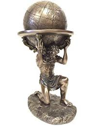 11 75 inch with atlas globe shrugged resin statue