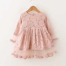 pattern dress baby girl 2018 kids girls lace flower pattern dress high quality design baby