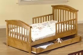 Toddler Bed With Rail Sorelle Joel Pine Toddler Bed With Storage U0026 Reviews Wayfair