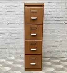 Oak Filing Cabinet Vintage Wooden Filing Cabinet From Cartl Kist For Sale At Pamono