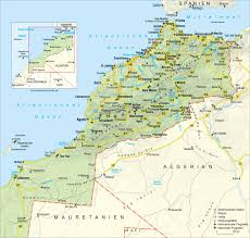 Costa Rica Airports Map Road Map Of Morocco With Relief Cities And Airports Vidiani Com