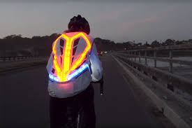 light bike jacket this crazy cycling jacket has 250 leds indicators and will even