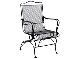 Woodard Belden Padded Sling Aluminum Woodard Tucson Wrought Iron High Back Coil Spring Chair 1g0066
