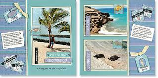 vacation photo album creating vacation themed mini album pages