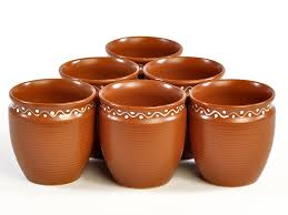 terracotta kullad set of 6 from the exclusive home decor and