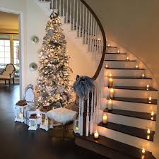 christmas candles on stairs romantic home see this instagram photo