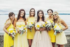 yellow bridesmaid dress simple tips for mismatched bridesmaids dresses