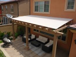 sophisticated wood trellis pergola roofing with wood awning