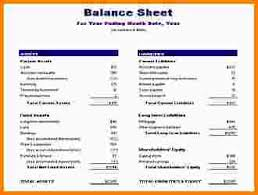 Excel Balance Sheet Template by 7 Balance Sheet Template Excel Nypd Resume