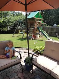 furniture minimalist planter patio umbrella stand