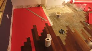Installing Laminate Flooring Underlayment Hardwood Floor Glue Underlayment To Concrete How Long Does It