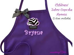 regal purple children s aprons two pocket embroidery