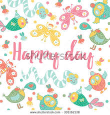 happy day postcard vector stock vector 335162138