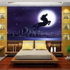 custom 3d photo wallpaper mural living room bed room starry night custom 3d photo wallpaper mural living room bed room starry night sky horse painting sofa tv background wall non woven sticker in wallpapers from home